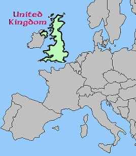 United Kingdom Europe Map