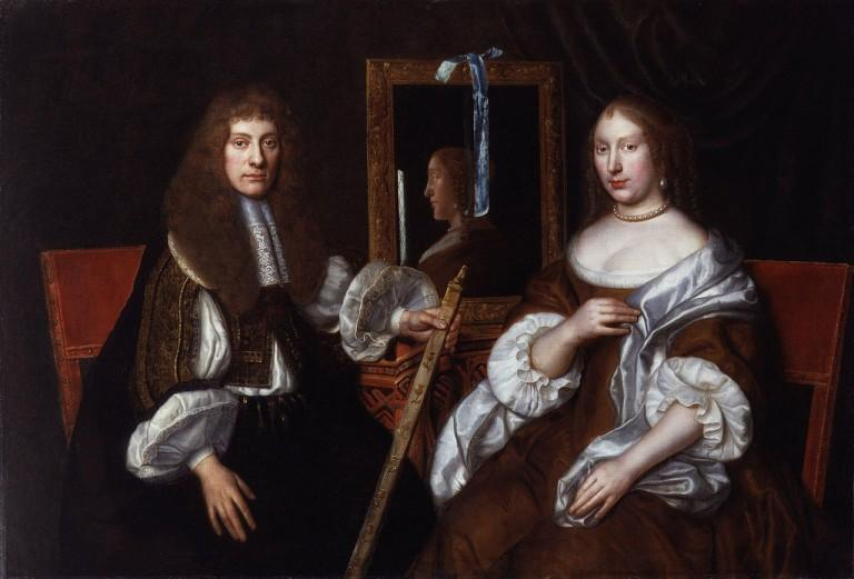 Archibald Campbell, 9th Earl of Argyll, with his second wife Anna; unknown artist; National Portrait Gallery, London.