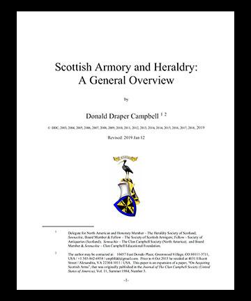 Scottish Armory and Heraldry: A General Overview by Donald Draper Campbell, Esq.
