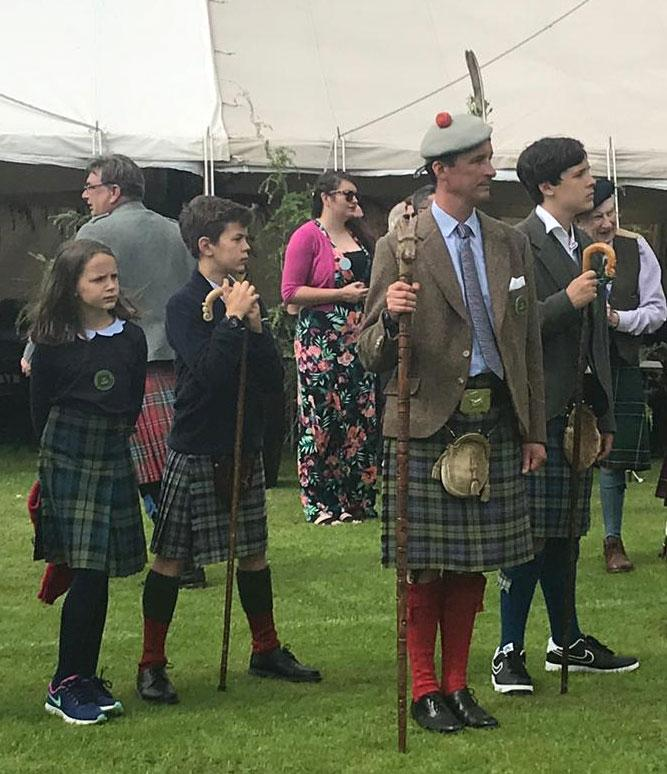 The Duke of Argyll and his Children at the 2019 Inveraray Highland Games