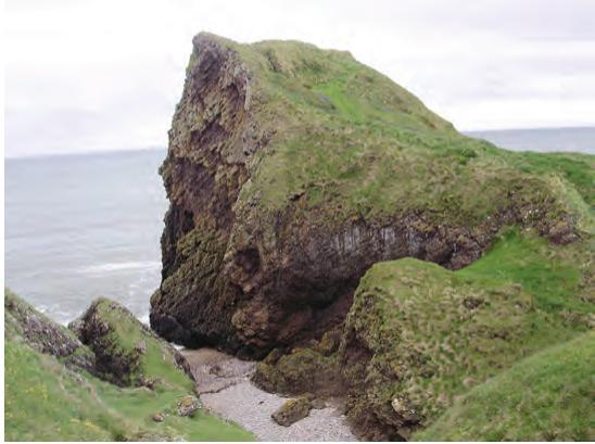 Site of Dunaverty Castle, Scotland