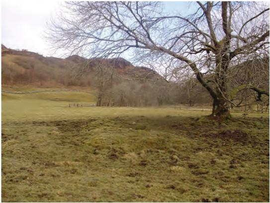 Site of the Barn of the Bones at Lagganmore in Glen Euchar