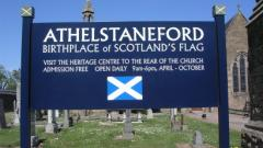 Athelstaneford Flag Trust Sign Scotland